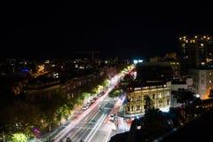 La notte lunga dell'esposizione ha sparato del centro urbano di Sydney Fotografia Stock Libera da Diritti