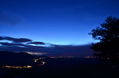 La notte sta venendo Fotografie Stock Libere da Diritti