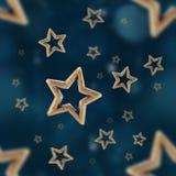 La notte stars il modello senza cuciture Immagine Stock