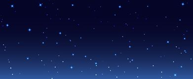 La notte stars l'illustrazione del fondo del cielo Carta da parati stellata del cielo di notte scura della galassia Royalty Illustrazione gratis