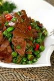 la nourriture délicieuse chinoise de paraboloïde a fait frire le porc chaud de foie photos libres de droits