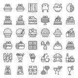 La nourriture de Noël a rapporté l'icône réglée comme la boulangerie, vin, biscuit, laye illustration de vecteur