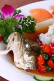 la nourriture de poissons délicieuse chinoise de paraboloïde a fait frire cuit à la vapeur Images libres de droits
