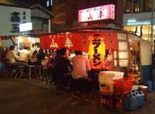 La nourriture de Yatai cale à Fukuoka Japon Image libre de droits