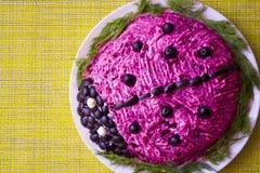 La nourriture est présentée sous forme de coccinelle d'un plat et du GR images stock