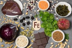 La nourriture est source de ferrum photos libres de droits