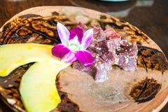 La nourriture japonaise est servie le boeuf frais Photographie stock libre de droits