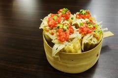 La nourriture populaire de Penang Nyonya a appelé Pai Tee ou le chapeau supérieur photo libre de droits
