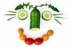 La nourriture saine est amusement Photo libre de droits