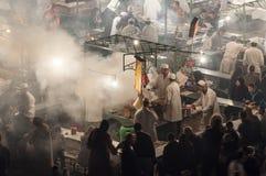 La nourriture se tient à Marrakech Photos stock