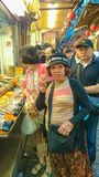 La nourriture taiwanaise de rue jiufen dedans la nouvelle ville Taiwan de Taïpeh de vieille rue photos libres de droits