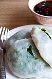 La nourriture thaïe effectuent de la farine cuite à la vapeur avec des légumes Images libres de droits