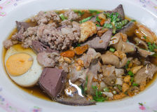 La nourriture thaïlandaise est pâte de nom de farine de riz Photographie stock libre de droits