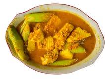La nourriture thaïlandaise, pêchent la soupe aigre faite de pâte de tamarinier Image stock