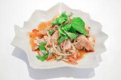 La nourriture thaïlandaise traditionnelle a appelé Pork Namtok Photo libre de droits