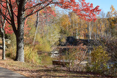 La Nouvelle Angleterre en automne Images libres de droits