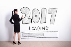 La nouvelle année charge maintenant Image libre de droits