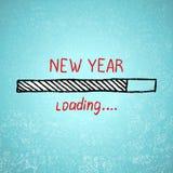 La nouvelle année charge Vecteur de tamplate de vacances Image libre de droits