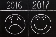 La nouvelle année 2017 est le prochain concept 2017 remplacent 2016 Images stock