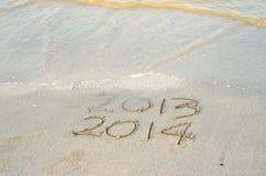 La nouvelle année 2014 est prochain concept Images libres de droits