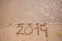 La nouvelle année 2014 est prochain concept Photos libres de droits