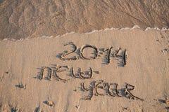 La nouvelle année 2014 est prochain concept Image libre de droits