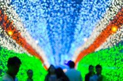 La nouvelle année et le Noël LED fastival allument le fond de caverne Images libres de droits
