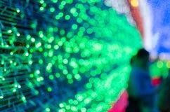 La nouvelle année et le Noël LED fastival allument le fond de caverne Photographie stock