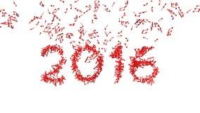 La nouvelle année 2016 a fait à partir des notes Photos stock