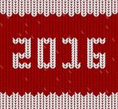La nouvelle année 2016 a tricoté le tissu, modèle de knit Photo libre de droits