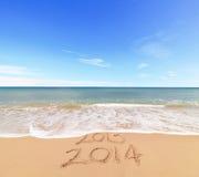 La nouvelle année 2014 vient Image libre de droits
