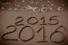 La nouvelle année 2016 vient Images stock