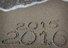 La nouvelle année 2016 vient Image libre de droits
