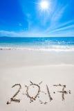 La nouvelle année 2017 vient Images stock