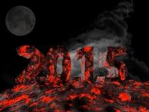 La nouvelle année 2015 a fait à partir de la lave Photos libres de droits