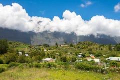 La Nouvelle in the Cirque of Mafate, la Reunion island. La Nouvelle,  village in the Cirque of Mafate, la Reunion Island Stock Image