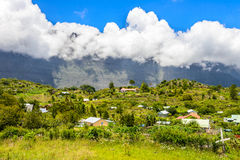 La Nouvelle in the Cirque of Mafate, la Reunion island Stock Photography