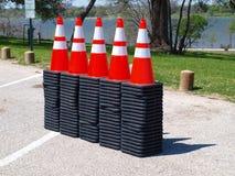 La nouvelle livraison de cônes du trafic Image stock