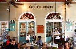 La Nouvelle-Orléans Famous Cafe du Monde Images stock