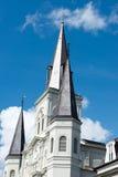 LA NOUVELLE-ORLÉANS, LA - 13 AVRIL : Belle architecture de basilique de cathédrale de Saint Louis en Jackson Square, la Nouvelle- Photographie stock