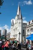 LA NOUVELLE-ORLÉANS, LA - 13 AVRIL : Belle architecture de basilique de cathédrale de Saint Louis en Jackson Square, la Nouvelle- Image stock
