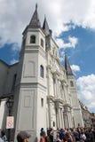 LA NOUVELLE-ORLÉANS, LA - 13 AVRIL : Belle architecture de basilique de cathédrale de Saint Louis en Jackson Square, la Nouvelle- Photos stock