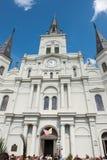 LA NOUVELLE-ORLÉANS, LA - 13 AVRIL : Belle architecture de basilique de cathédrale de Saint Louis en Jackson Square, la Nouvelle- Photo libre de droits