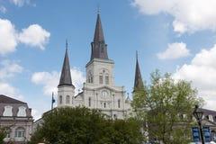 LA NOUVELLE-ORLÉANS, LA - 13 AVRIL : Belle architecture de basilique de cathédrale de Saint Louis en Jackson Square, la Nouvelle- Photo stock