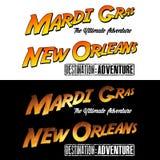 La Nouvelle-Orléans Mardi Gras Adventure illustration libre de droits