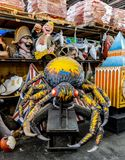 La Nouvelle-Orléans Mardi Gras World - araignée Images stock