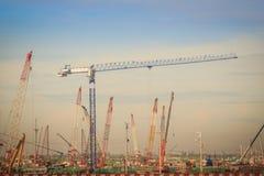 La nouvelle phase 2 d'expansion d'aéroport de Suvarnabhumi en construction, cela a conçu pour élever le passager annuel de Suvarn Images libres de droits