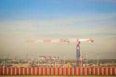 La nouvelle phase 2 d'expansion d'aéroport de Suvarnabhumi en construction, cela a conçu pour élever le passager annuel de Suvarn Photographie stock libre de droits