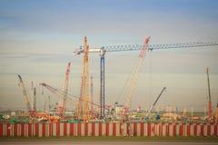 La nouvelle phase 2 d'expansion d'aéroport de Suvarnabhumi en construction, cela a conçu pour élever le passager annuel de Suvarn Image stock