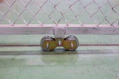 La nouvelle roue de rouleau, ou roue de porte de rouleau Photos libres de droits